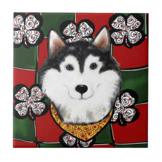 Alaskan-Malamute St. Patty Tile