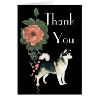 Alaskan Malamute Thank You Notecard