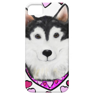 Alaskan-Malamute Valentine iPhone 5 Case