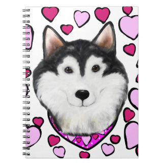 Alaskan-Malamute Valentine Notebook