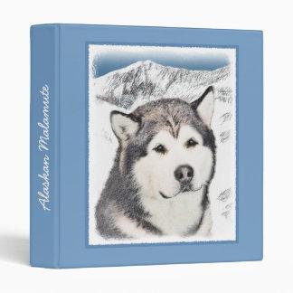 Alaskan Malamute Vinyl Binder