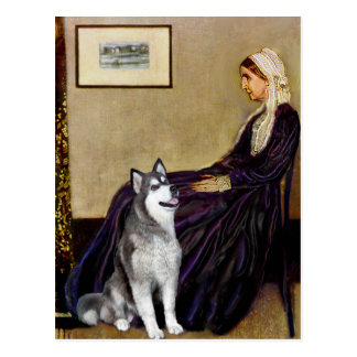 Alaskan Malamute - Whistlers Mother Postcard