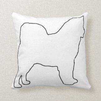 Alaskan Malamute white silo Throw Pillow