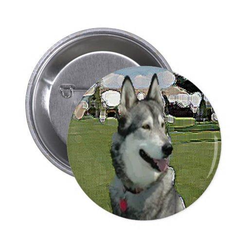 Alaskan Malemute Kiana Pinback Button