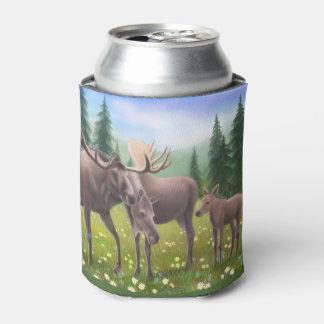 Alaskan Moose Family Can Cooler