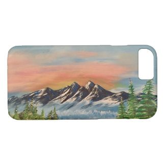 Alaskan mountain range art phone case