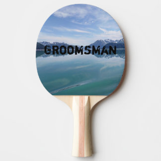 Alaskan Mountain Range Ping Pong Paddle
