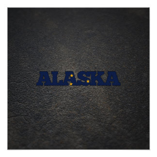 Alaskan name and flag perfect poster