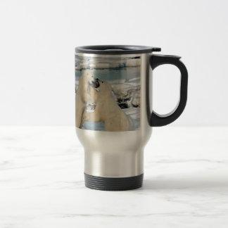 Alaskan Polar Bears 15 Oz Stainless Steel Travel Mug