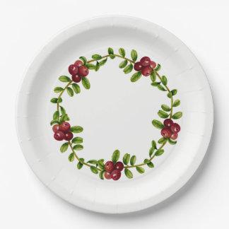 Alaskan Red Berry Paper Plate