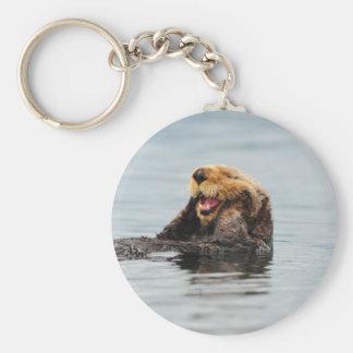 Alaskan Sea Otter Basic Round Button Keychain