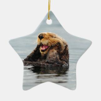 Alaskan Sea Otter Ceramic Ornament