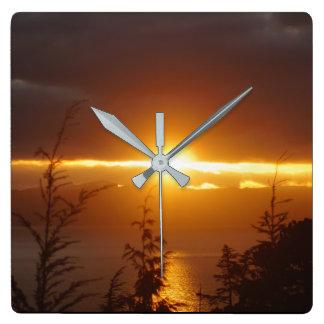 Alaskan Sunset Clock