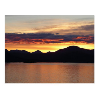 Alaskan Sunset I Beautiful Alaska Photography Postcard