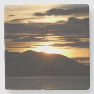 Alaskan Sunset III Beautiful Alaska Photography Stone Coaster