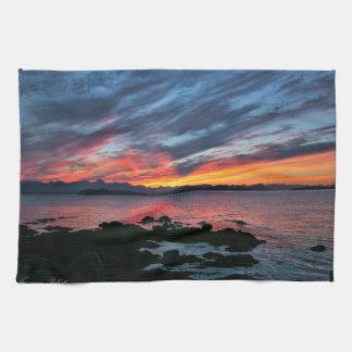 Alaskan Sunset Kitchen Towel