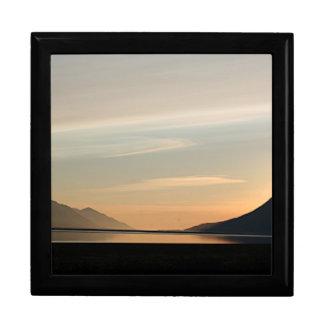 Alaskan Sunset over Turnagain Arm 2 Keepsake Box