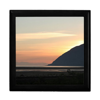 Alaskan Sunset over Turnagain Arm Jewelry Box