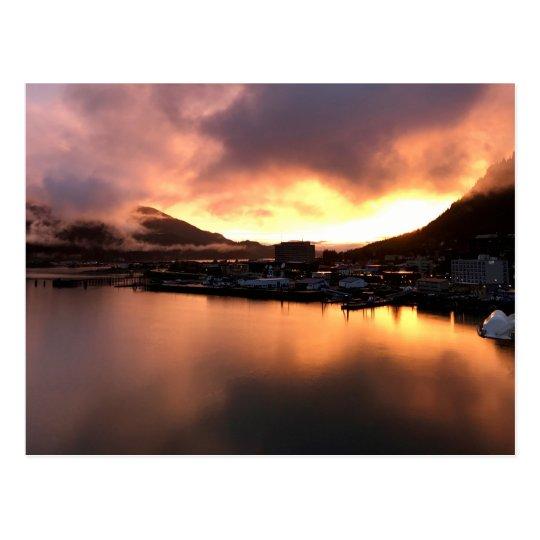 Alaskan Sunset Postcard