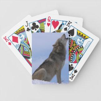 Alaskan Timber Wolf Bicycle Playing Cards