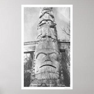 Alaskan Totem Pole 1912 Poster