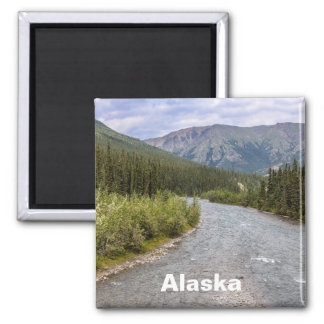 Alaskan Wilderness Square Magnet