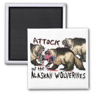 Alaskan Wolverines by Mudge Studios Magnet