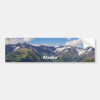 Alaska's Chugach Mountain Range Bumper Sticker