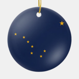 Alaska's Flag Ceramic Ornament