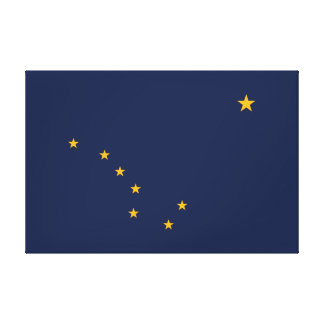Alaska's Flag Wrapped Canvas