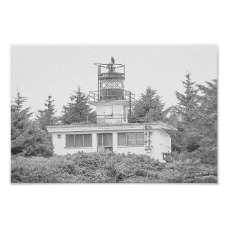 Alaska's Guard Island Light Poster