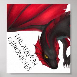 Alavon Dragon in Flight Poster