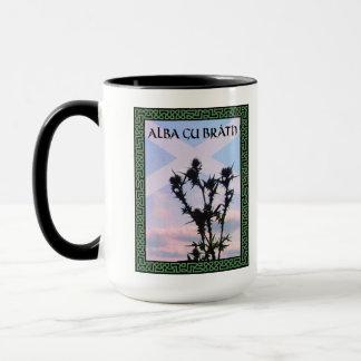Alba Gu Bràth Scotland Alba Thistle Saltire Celtic Mug