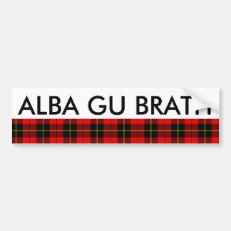 Alba Gu Brath Scotland Forever Wallace Tartan Bumper Sticker