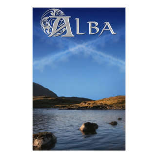 Alba, Scotland, Caledonia Custom Stationery