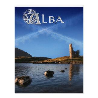 Alba, Scotland, Caledonia Customized Letterhead