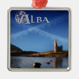 Alba, Scotland, Caledonia Metal Ornament
