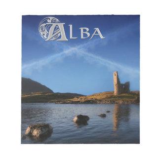 Alba, Scotland, Caledonia Notepad