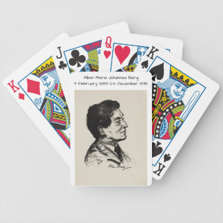 Alban Maria Johannes Berg Bicycle Playing Cards