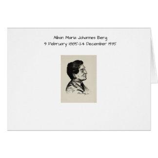 Alban Maria Johannes Berg Card