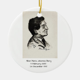 Alban Maria Johannes Berg Ceramic Ornament