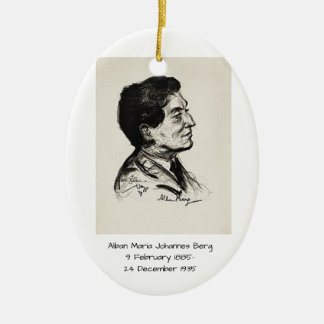 Alban Maria Johannes Berg Ceramic Ornament