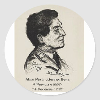 Alban Maria Johannes Berg Classic Round Sticker