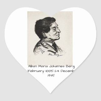 Alban Maria Johannes Berg Heart Sticker