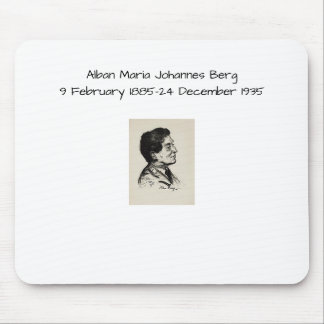 Alban Maria Johannes Berg Mouse Pad