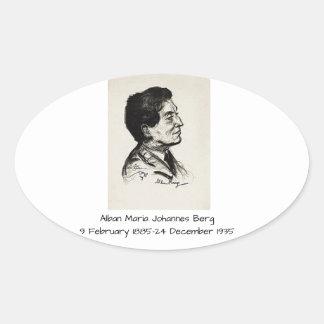 Alban Maria Johannes Berg Oval Sticker