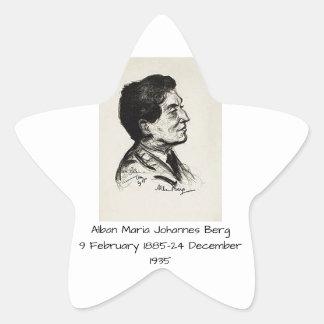 Alban Maria Johannes Berg Star Sticker