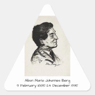 Alban Maria Johannes Berg Triangle Sticker