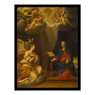 Albani Francesco Annunciation Poster
