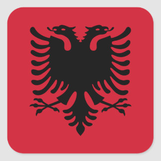 Albania/Albani/Albanian Flag Square Sticker